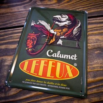 Plaque métal CALUMET LEFEUX
