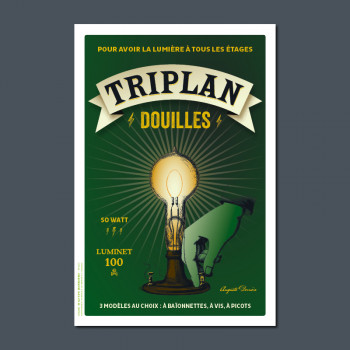 Carte Postale TRIPLAN DOUILLES