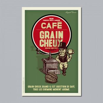 Carte Postale CAFÉ GRAIN CHEUX