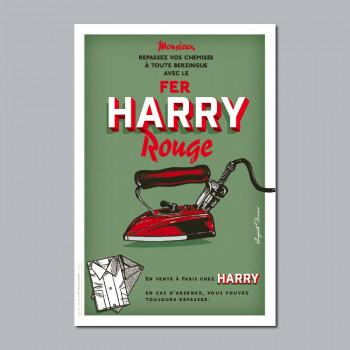 Carte Postale FER HARRY ROUGE