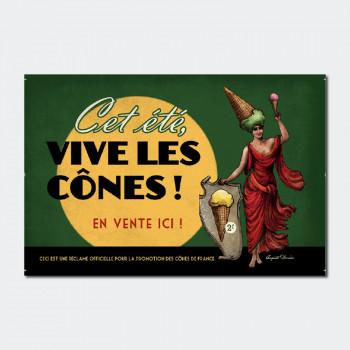 Carte Postale VIVE LES CÔNES