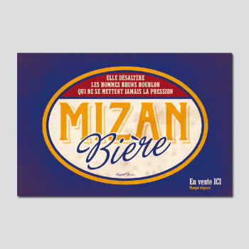 Carte Postale MIZAN BIÈRE