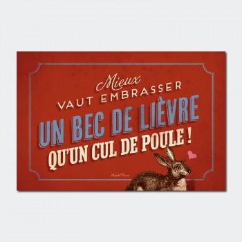 Carte Postale CUL DE POULE