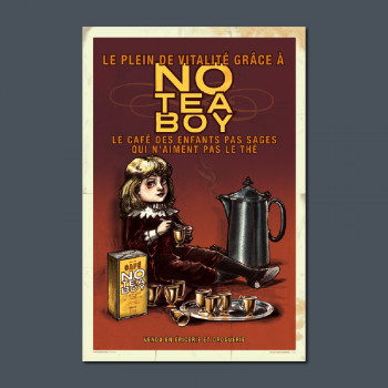 Carte Postale NO TEA BOY