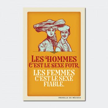 Carte Postale LE SEXE FIABLE