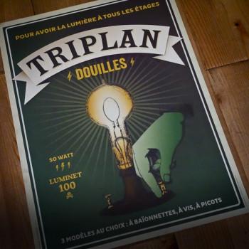 Poster TRIPLAN DOUILLES